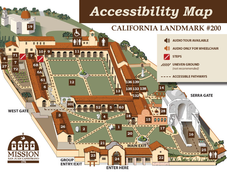 Mission San Juan Capistrano ADA Map