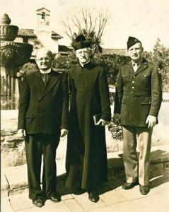Father Arthur J. Hutchinson (center) Mission Pastor (1933-1952) circa 1940s