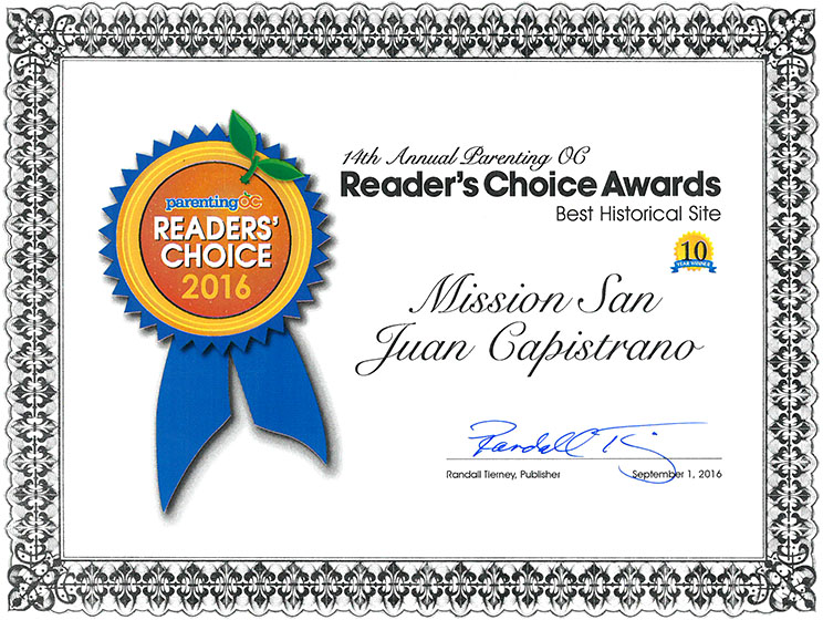 Parenting OC - Readers Choice Award 2016 - MSJC